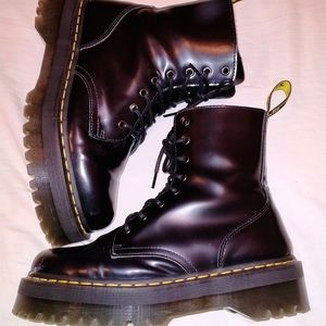 Doc martens high tops with a double heel, size 11